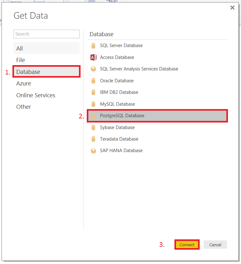 PowerBI database