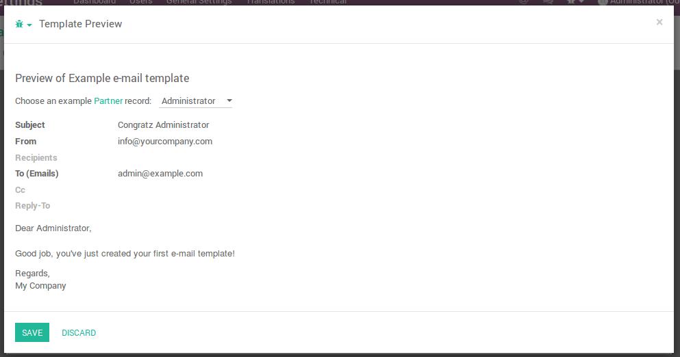 Creating e-mail templates in Odoo - Odoo tutorials