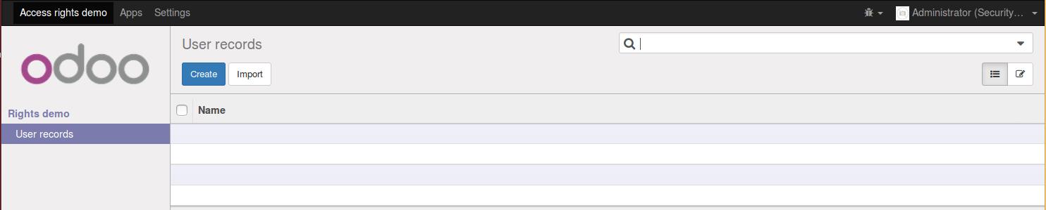 User menuitem