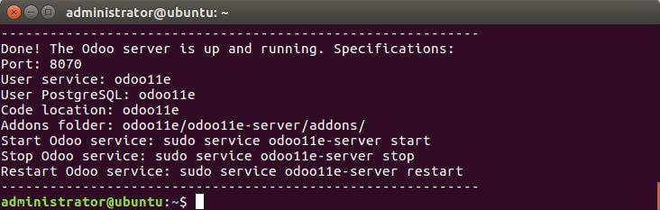 Result install script