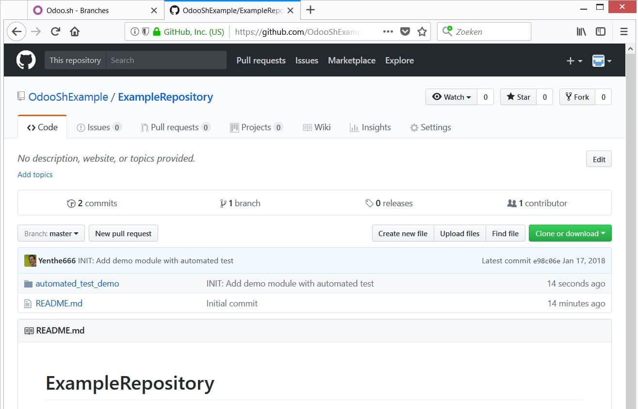 New commit on Github