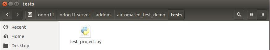 Tests folder structure